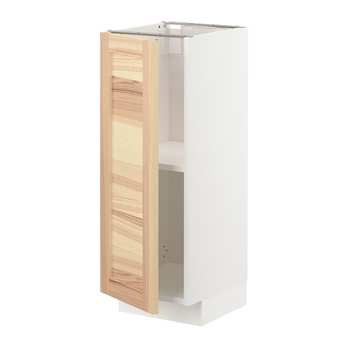 METOD - base cabinet with shelves, white/Torhamn ash | IKEA Hong Kong and Macau - PE726471_S4