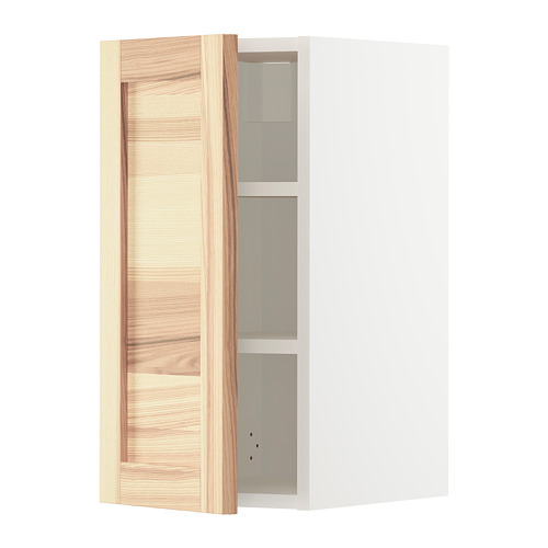 METOD - wall cabinet with shelves, white/Torhamn ash | IKEA Hong Kong and Macau - PE726474_S4