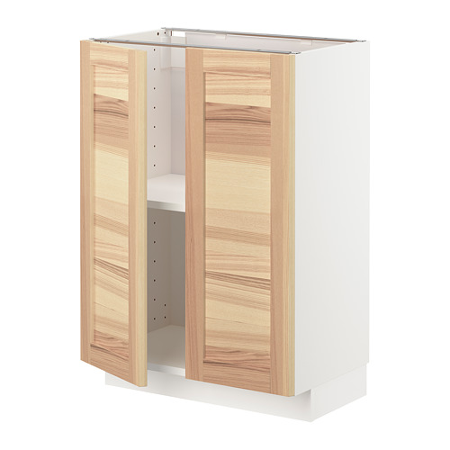 METOD base cabinet with shelves/2 doors