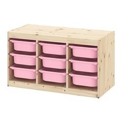 TROFAST - 貯物組合連物盒, light white stained pine/pink | IKEA 香港及澳門 - PE770660_S3