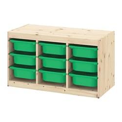 TROFAST - 貯物組合連物盒, light white stained pine/green   IKEA 香港及澳門 - PE770671_S3
