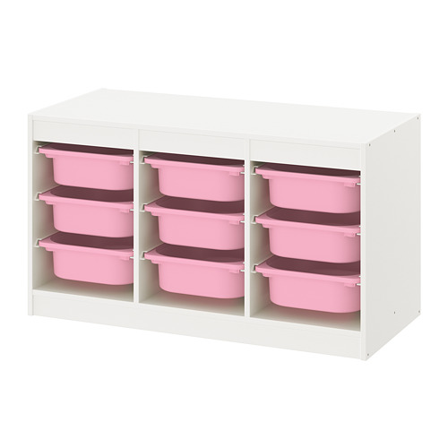 TROFAST - storage combination with boxes, white/pink   IKEA Hong Kong and Macau - PE770674_S4