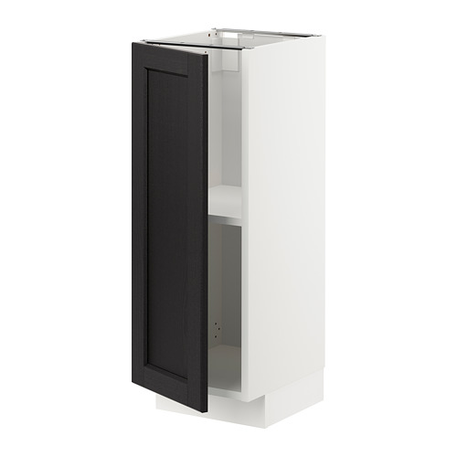 METOD - base cabinet with shelves, white/Lerhyttan black stained | IKEA Hong Kong and Macau - PE726523_S4
