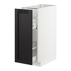 METOD - 地櫃/拉出式櫃內配件, 白色/Lerhyttan 染黑色 | IKEA 香港及澳門 - PE726524_S3