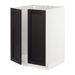 METOD - 星盆用地櫃連一對門, 白色/Lerhyttan 染黑色 | IKEA 香港及澳門 - PE726541_S3