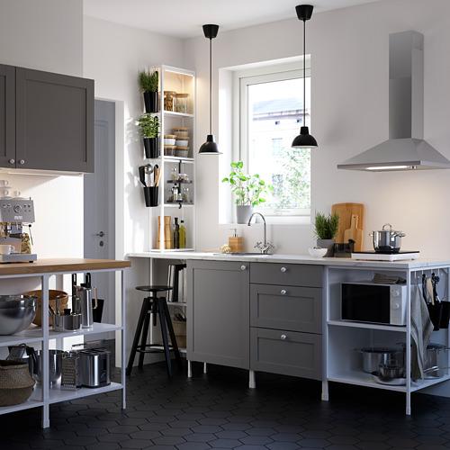 ENHET - 上牆式貯物架組合, white/grey frame | IKEA 香港及澳門 - PE783170_S4