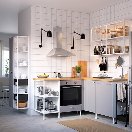 ENHET - 上牆式貯物架組合, white/grey frame   IKEA 香港及澳門 - PE783179_S4