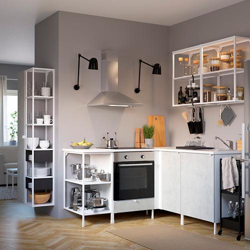 ENHET - 上牆式貯物架組合, white/concrete effect | IKEA 香港及澳門 - PE783182_S4