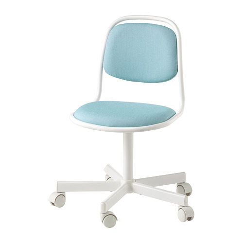 Children's Desk Chair, White/Vissle Blue/green