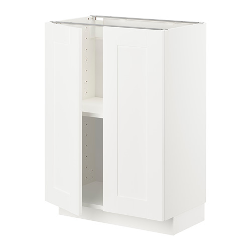 METOD - base cabinet with shelves/2 doors, white/Sävedal white | IKEA Hong Kong and Macau - PE726636_S4
