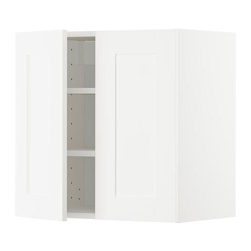 METOD - 吊櫃連層板/雙門, white/Sävedal white | IKEA 香港及澳門 - PE726637_S4