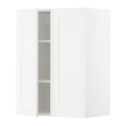 METOD - wall cabinet with shelves/2 doors, white/Sävedal white | IKEA Hong Kong and Macau - PE726638_S4