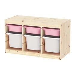 TROFAST - 貯物組合連物盒, light white stained pine pink/white | IKEA 香港及澳門 - PE770774_S3