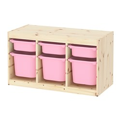 TROFAST - 貯物組合連物盒, light white stained pine pink/pink | IKEA 香港及澳門 - PE770780_S3