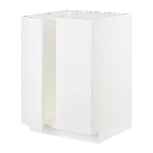 METOD - base cabinet for sink + 2 doors, white/Ringhult white | IKEA Hong Kong and Macau - PE726729_S4