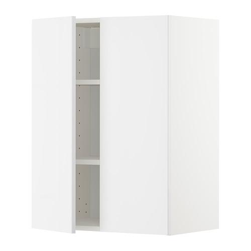 METOD - wall cabinet with shelves/2 doors, white/Ringhult white | IKEA Hong Kong and Macau - PE726731_S4