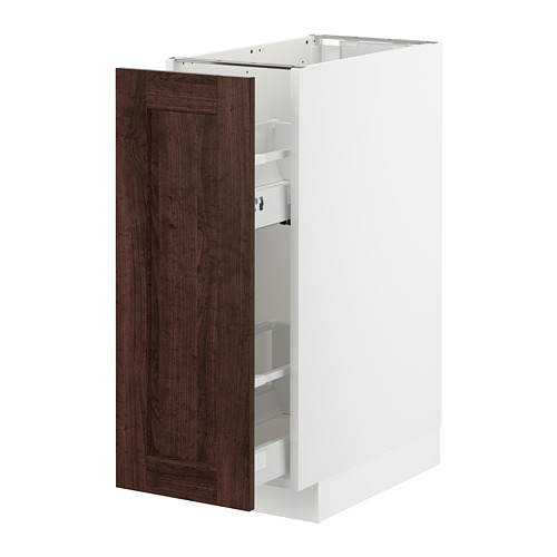 METOD - base cabinet/pull-out int fittings, white/Edserum brown | IKEA Hong Kong and Macau - PE726745_S4