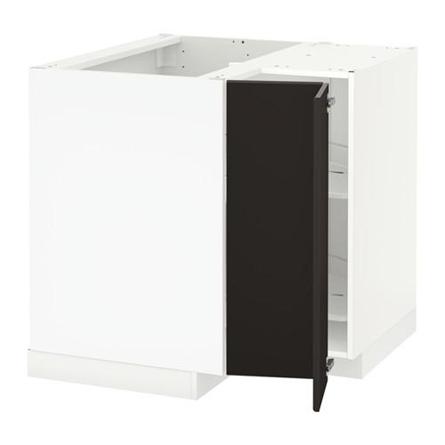 METOD - 角位地櫃連旋轉盤, 白色/Kungsbacka 炭黑色 | IKEA 香港及澳門 - PE635589_S4