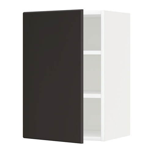 METOD - wall cabinet with shelves, white/Kungsbacka anthracite | IKEA Hong Kong and Macau - PE635605_S4