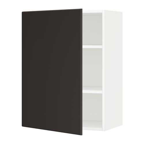 METOD - wall cabinet with shelves, white/Kungsbacka anthracite | IKEA Hong Kong and Macau - PE635646_S4