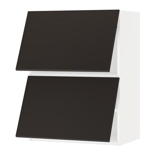 METOD - wall cabinet horizontal w 2 doors, white/Kungsbacka anthracite | IKEA Hong Kong and Macau - PE635590_S4