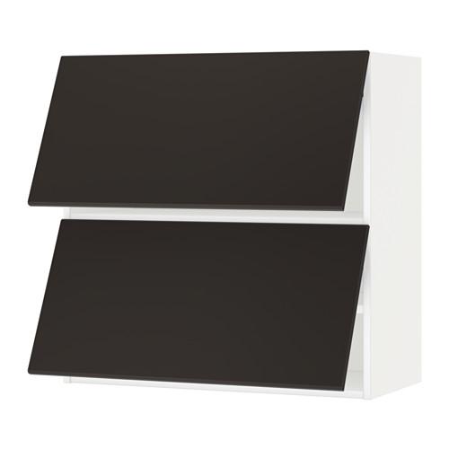 METOD - wall cab horizo 2 doors w push-open, white/Kungsbacka anthracite | IKEA 香港及澳門 - PE635578_S4