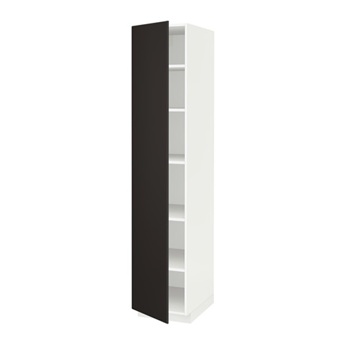 METOD - high cabinet with shelves, white/Kungsbacka anthracite | IKEA Hong Kong and Macau - PE635562_S4