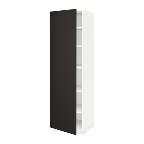 METOD - high cabinet with shelves, white/Kungsbacka anthracite | IKEA 香港及澳門 - PE635622_S4