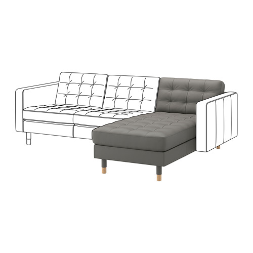 LANDSKRONA chaise longue, add-on unit