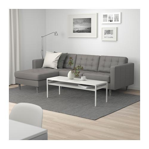 LANDSKRONA - 3-seat sofa, with chaise longue/Grann/Bomstad grey-green/metal | IKEA Hong Kong and Macau - PE684250_S4
