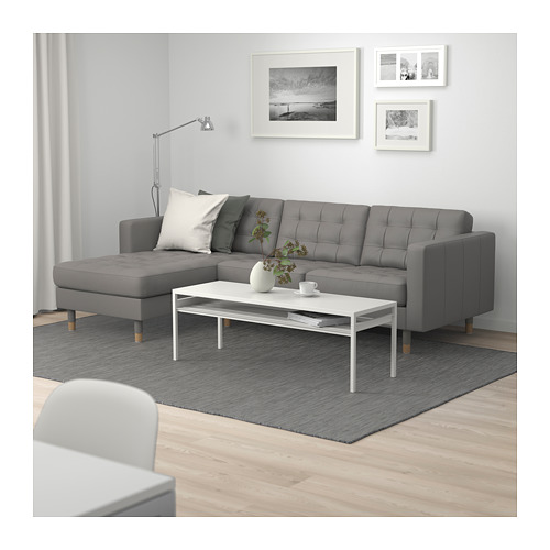 LANDSKRONA - 3-seat sofa, with chaise longue/Grann/Bomstad grey-green/wood | IKEA Hong Kong and Macau - PE684252_S4