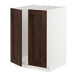 METOD - 星盆用地櫃連一對門, 白色/Edserum 褐色   IKEA 香港及澳門 - PE726760_S3