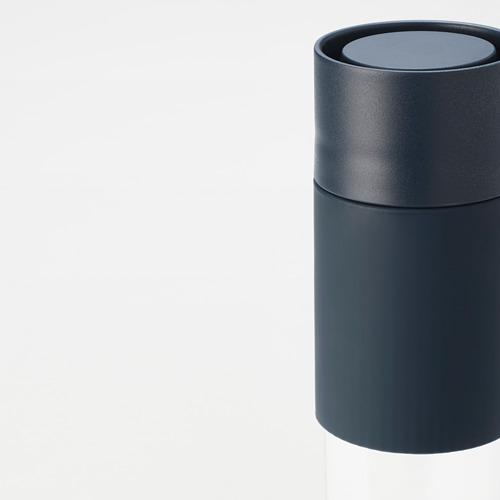 EFTERSTRÄVA 旅行杯, 透明玻璃/矽膠