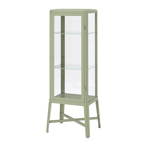 FABRIKÖR - glass-door cabinet, pale grey-green | IKEA Hong Kong and Macau - PE770906_S4