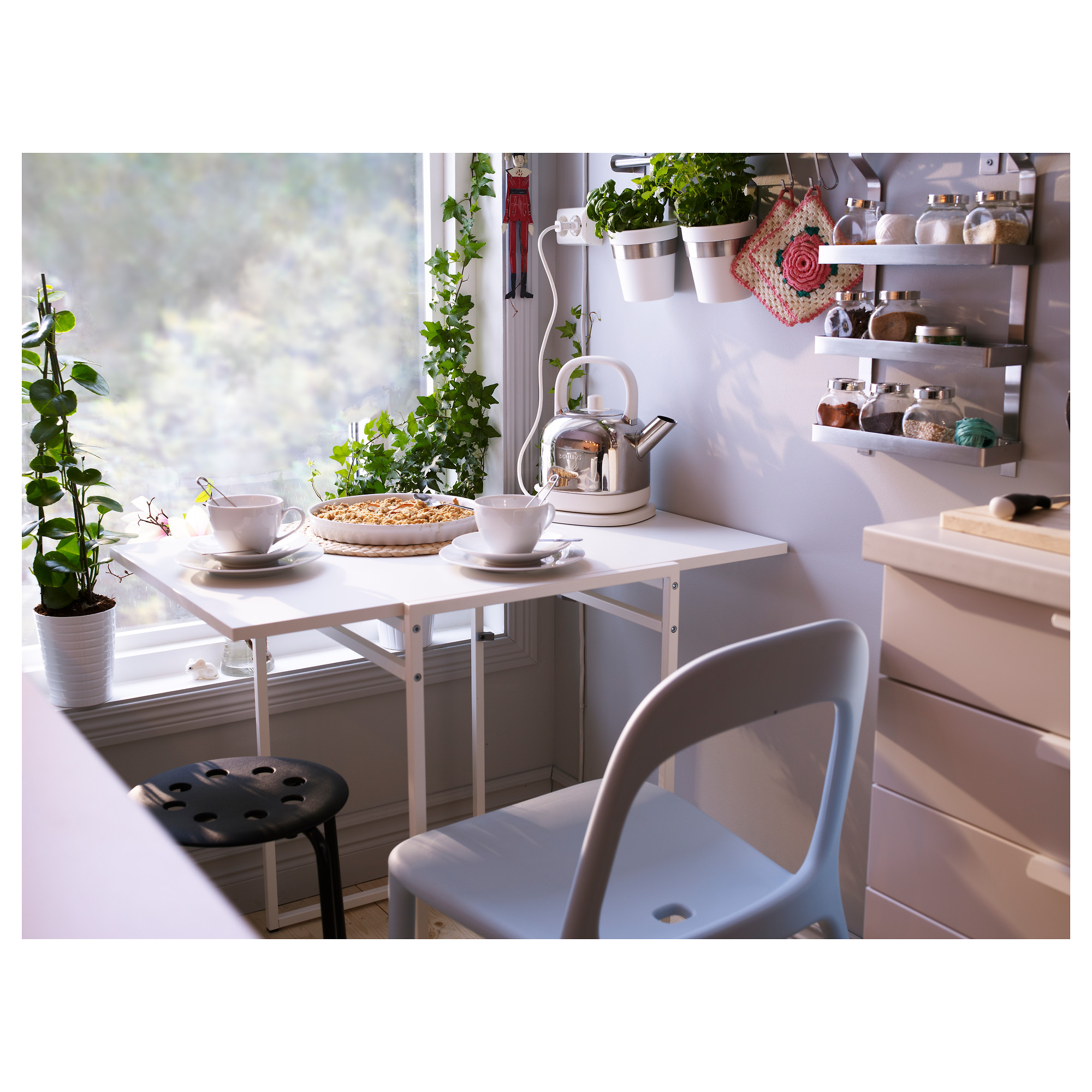 Muddus Drop Leaf Table White Ikea Hong Kong