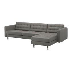 LANDSKRONA - 4-seat sofa, with chaise longue/Grann/Bomstad grey-green/metal | IKEA Hong Kong and Macau - PE684253_S3