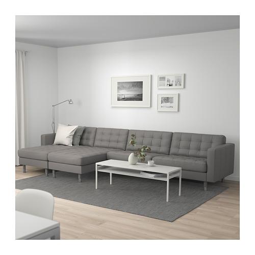LANDSKRONA - 5-seat sofa, with chaise longues/Grann/Bomstad grey-green/metal | IKEA Hong Kong and Macau - PE684258_S4
