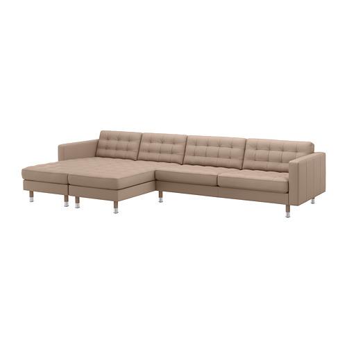 LANDSKRONA - 5-seat sofa, with chaise longues/Grann/Bomstad dark beige/metal | IKEA Hong Kong and Macau - PE684305_S4