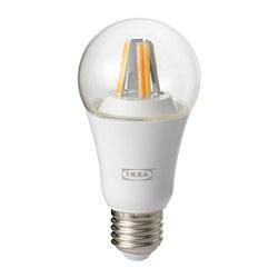 TRÅDFRI - LED 燈膽 E27 806流明, 無線調光/白光光譜 透明 | IKEA 香港及澳門 - PE684318_S3