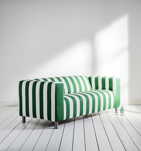 KLIPPAN - 2-seat sofa, Radbyn green/white | IKEA Hong Kong and Macau - PH169268_S4