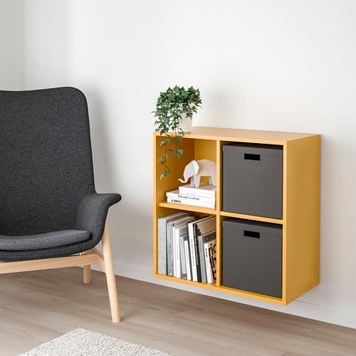 EKET - 上牆式4格牆架, 金啡色 | IKEA 香港及澳門 - PE726836_S4