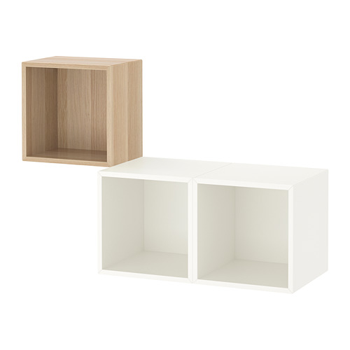 EKET - 上牆式貯物組合, 染白橡木紋/白色 | IKEA 香港及澳門 - PE726843_S4