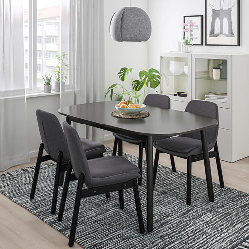 VEDBO/VEDBO - table and 4 chairs, black/black | IKEA Hong Kong and Macau - PE770960_S4