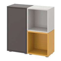 EKET - cabinet combination with feet, dark grey/light grey golden-brown | IKEA Hong Kong and Macau - PE726887_S3