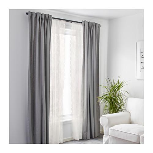 ALVINE SPETS - 窗紗,一對, 灰白色   IKEA 香港及澳門 - PE569648_S4