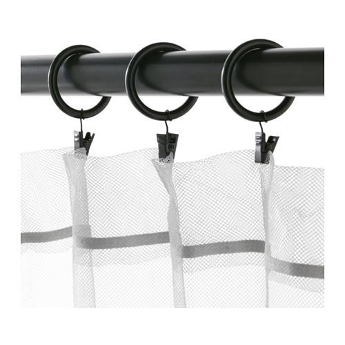 SYRLIG - 窗簾環連掛鈎及夾, 黑色 | IKEA 香港及澳門 - PE569690_S4