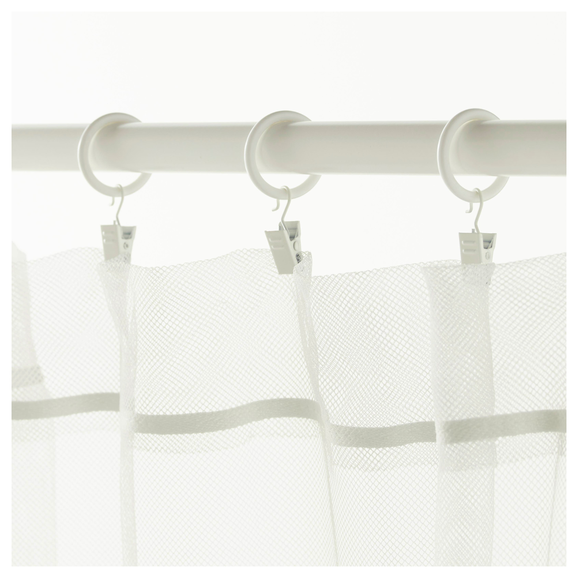 Syrlig Curtain Ring With Clip And Hook White Ikea Hong Kong