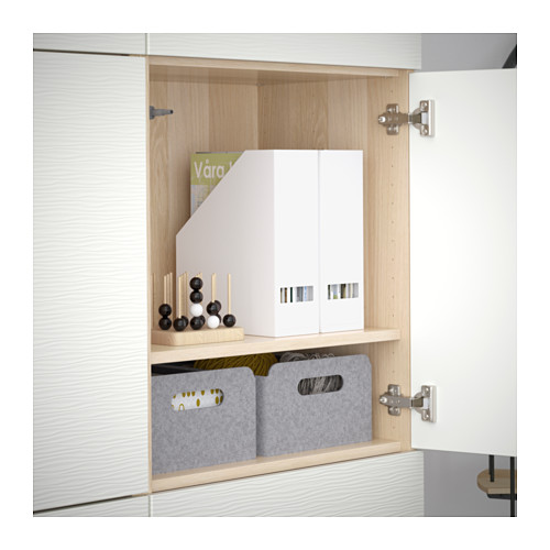 BESTÅ - storage combination with doors, white stained oak effect/Laxviken white | IKEA Hong Kong and Macau - PE635980_S4