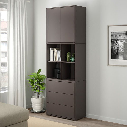 EKET - cabinet combination with feet, dark grey | IKEA Hong Kong and Macau - PE726928_S4