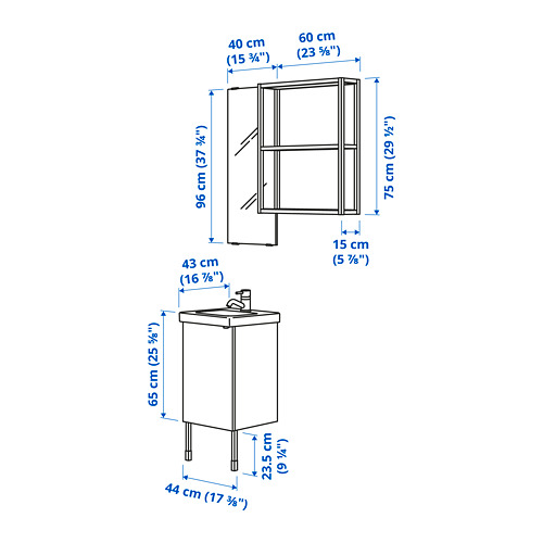 TVÄLLEN/ENHET - bathroom furniture, set of 10, concrete effect/white Pilkån tap | IKEA Hong Kong and Macau - PE783363_S4